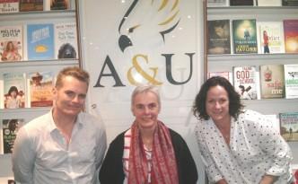 Sarah Price with acclaimed author James Bradley & Margo Lanagan